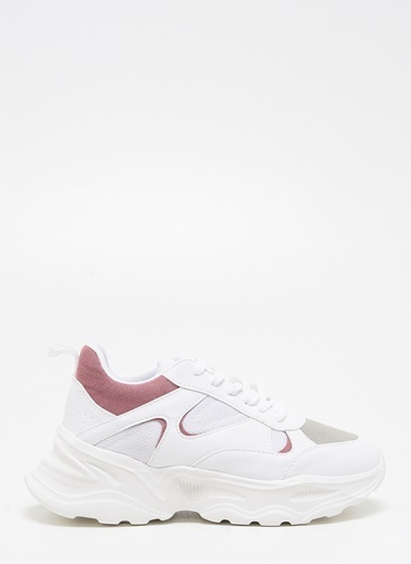 F By Fabrika Kadın Gri Sneakers BARBARA Beyaz